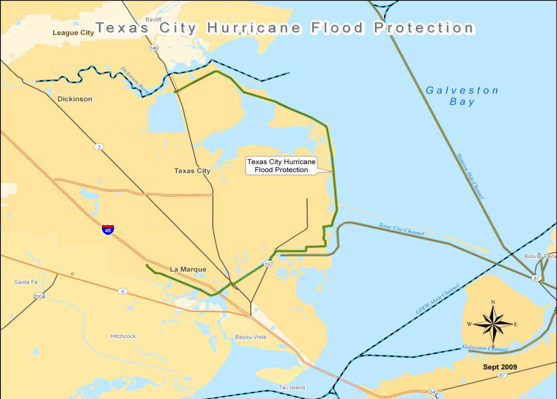 Flood Protection Levee Map