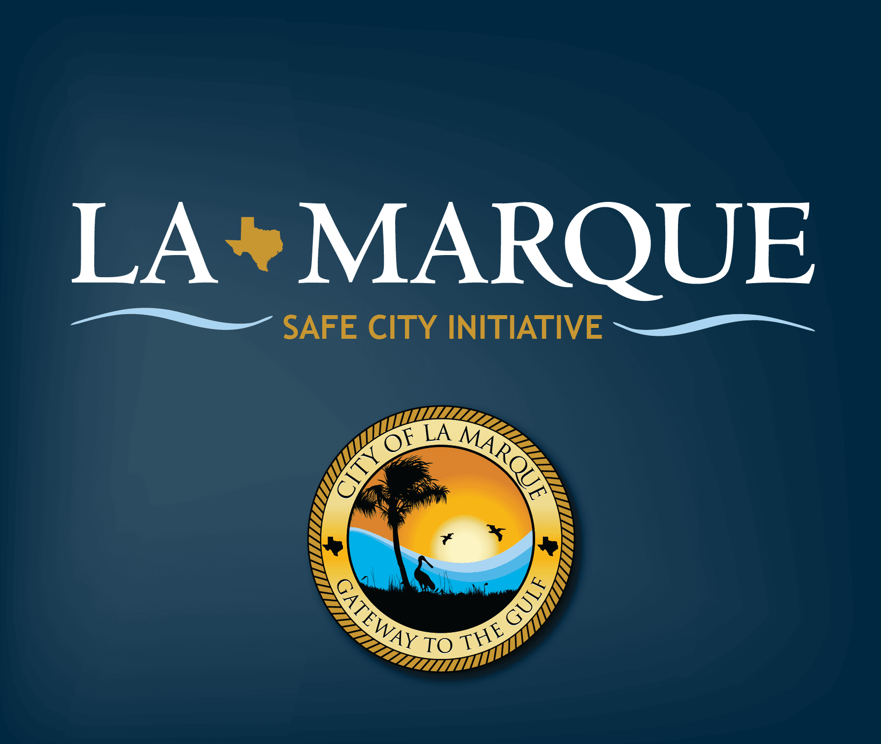 Safe City graphic with city logo
